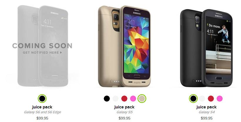 competitive price 8cf59 fdd15 Mophie Juice Pack for Galaxy S6 and S6 Edge debuts - Android Community