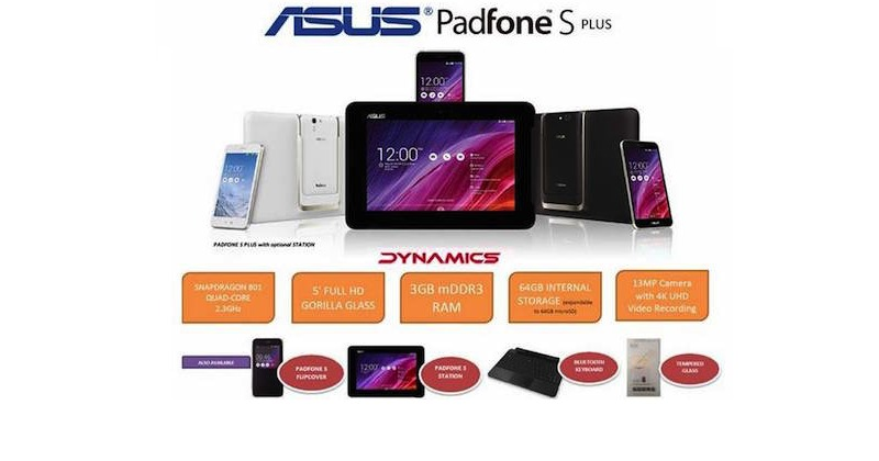 Asus Padfone S Plus smartphone and tablet dock