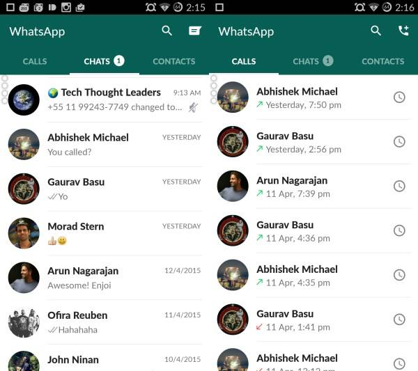 WhatsApp update: Material Design, better layout, new icons - Android