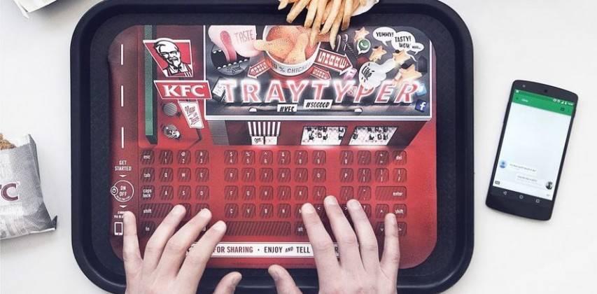 KFC Food tray bluetooth keyboard
