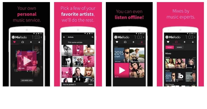 MixRadio Android app
