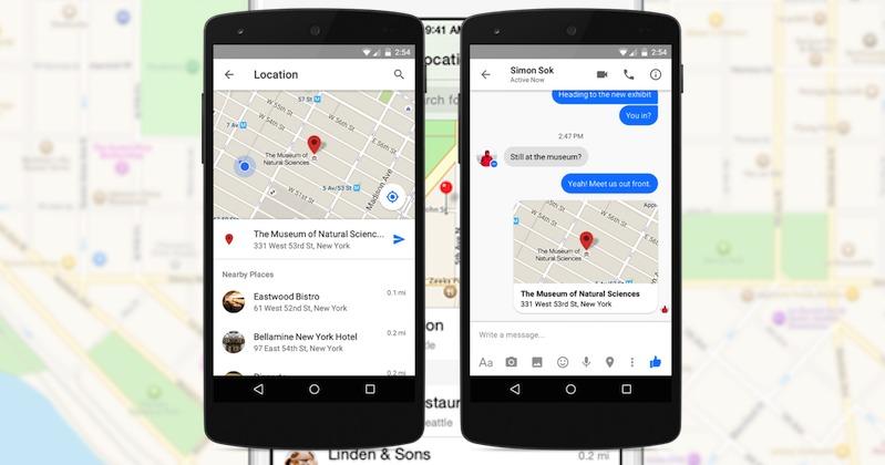 Facebook Messenger send location