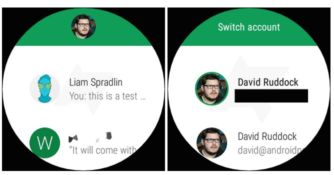 Hangouts 4.0 On Android Wear b