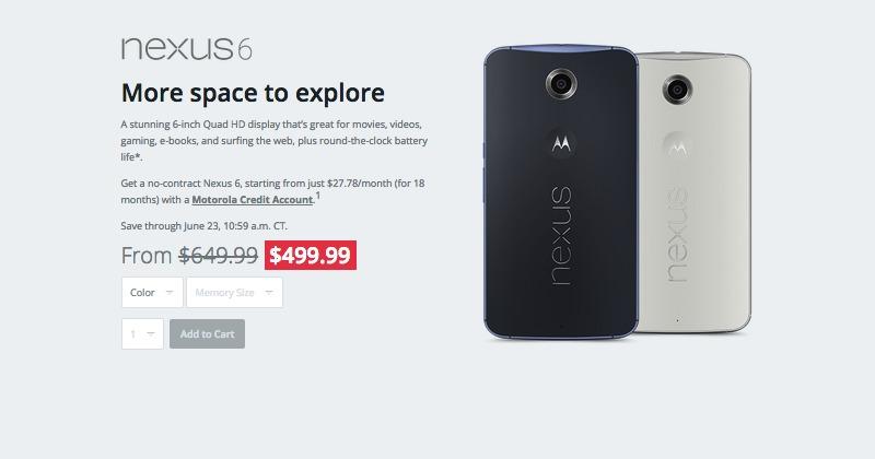 Motorola Nexus 6 Google Project Fi on sale