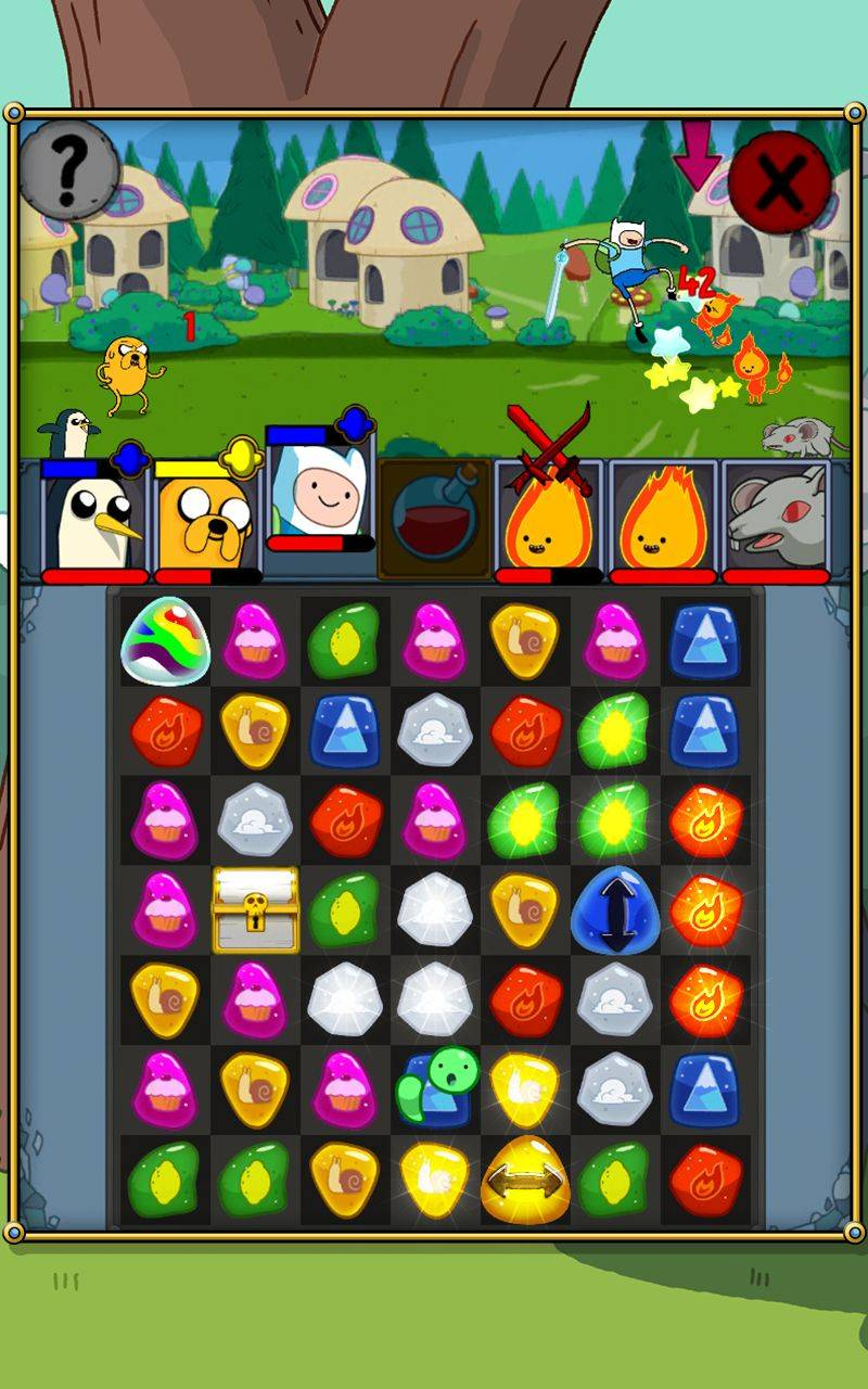 Adventure-Time-Puzzle-Quest-Game