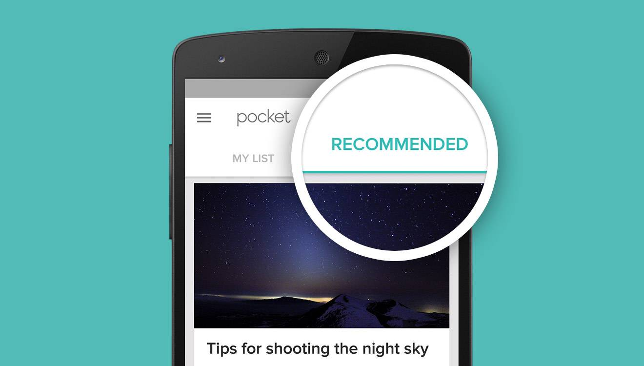 pocket recommendations android app