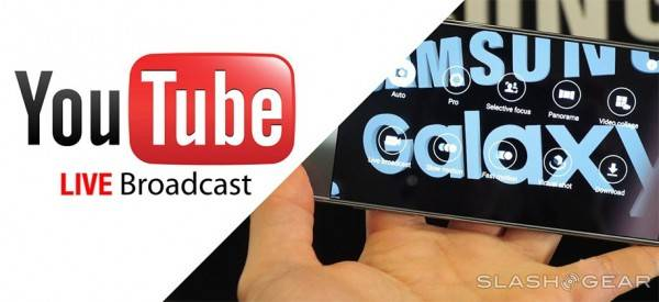 youtube live broadcast samsung