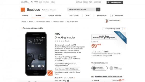 HTC ONE A9 Orange