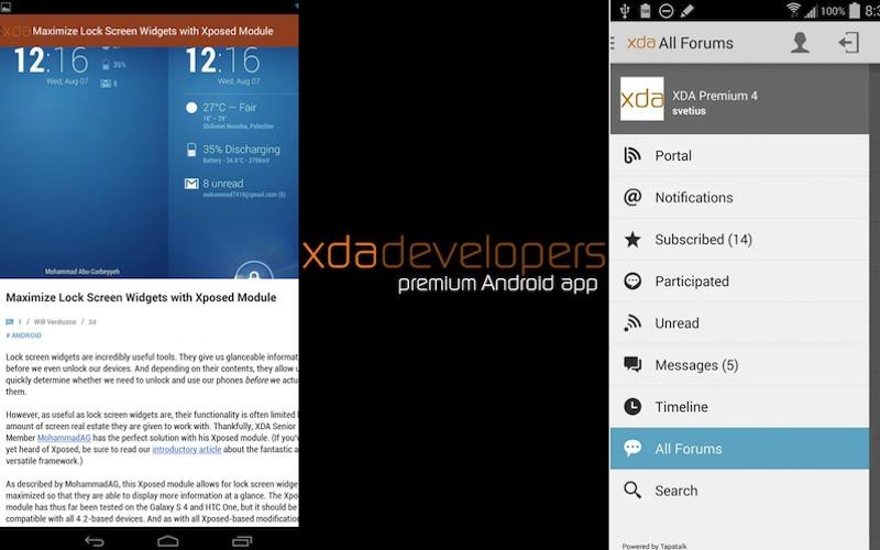 xda premium app now free