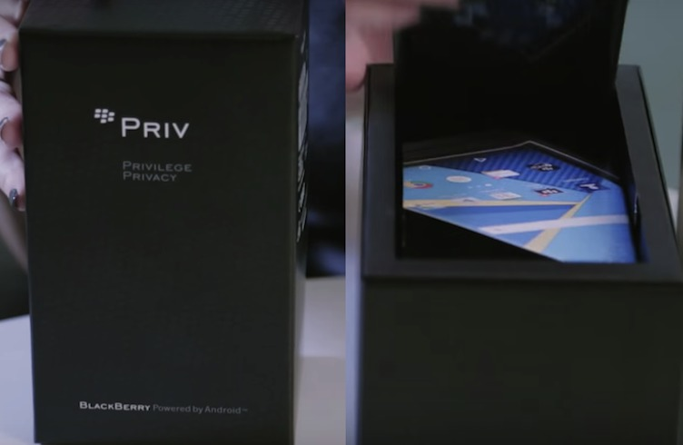 BlackBerry Priv Android phone Carphone Warehouse unboxing