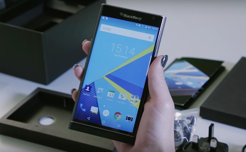BlackBerry Priv Android phone Carphone Warehouse unboxing-3.57 PM