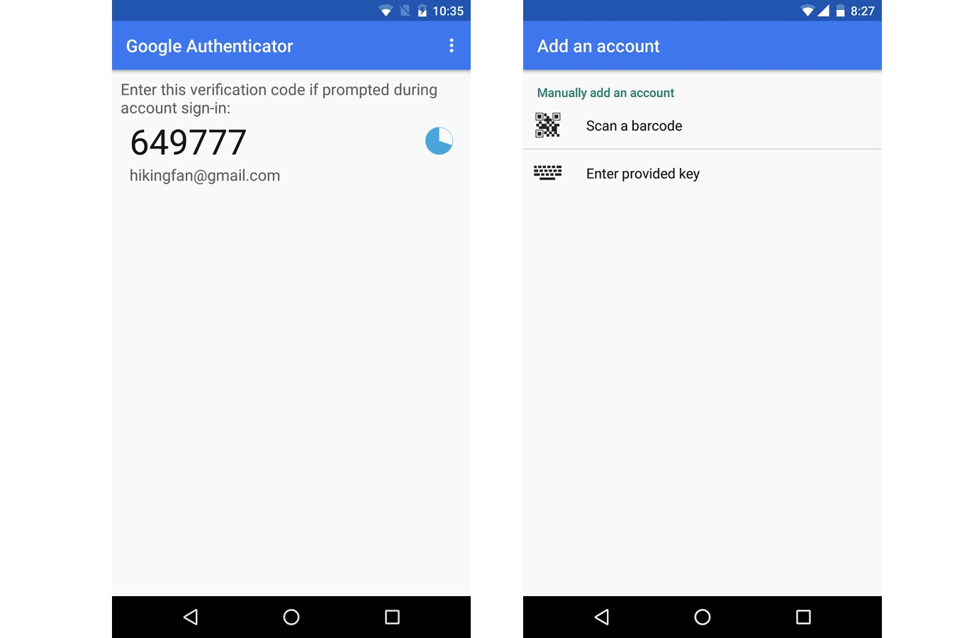 Google Authenticator for Android 1