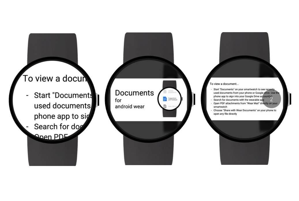 Documents for Android Wear app lets you read docs on your