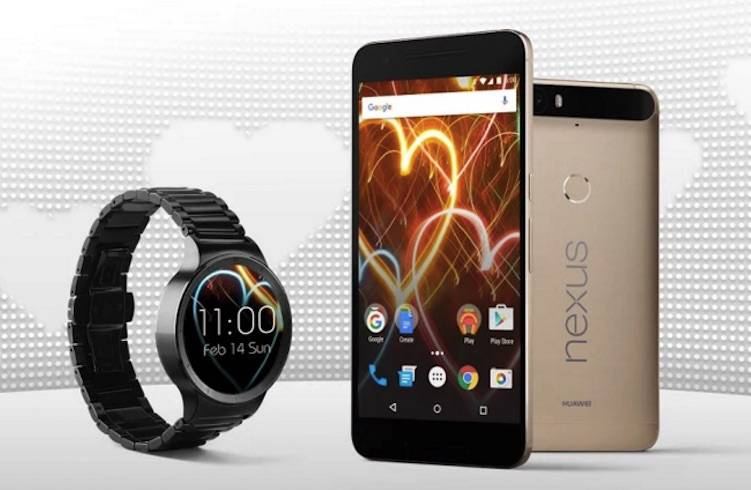 Google Nexus 6P plus Huawei Watch