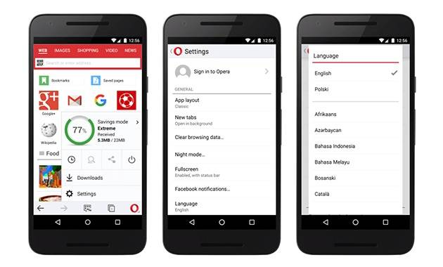 Opera Mini update includes better language support, QR code