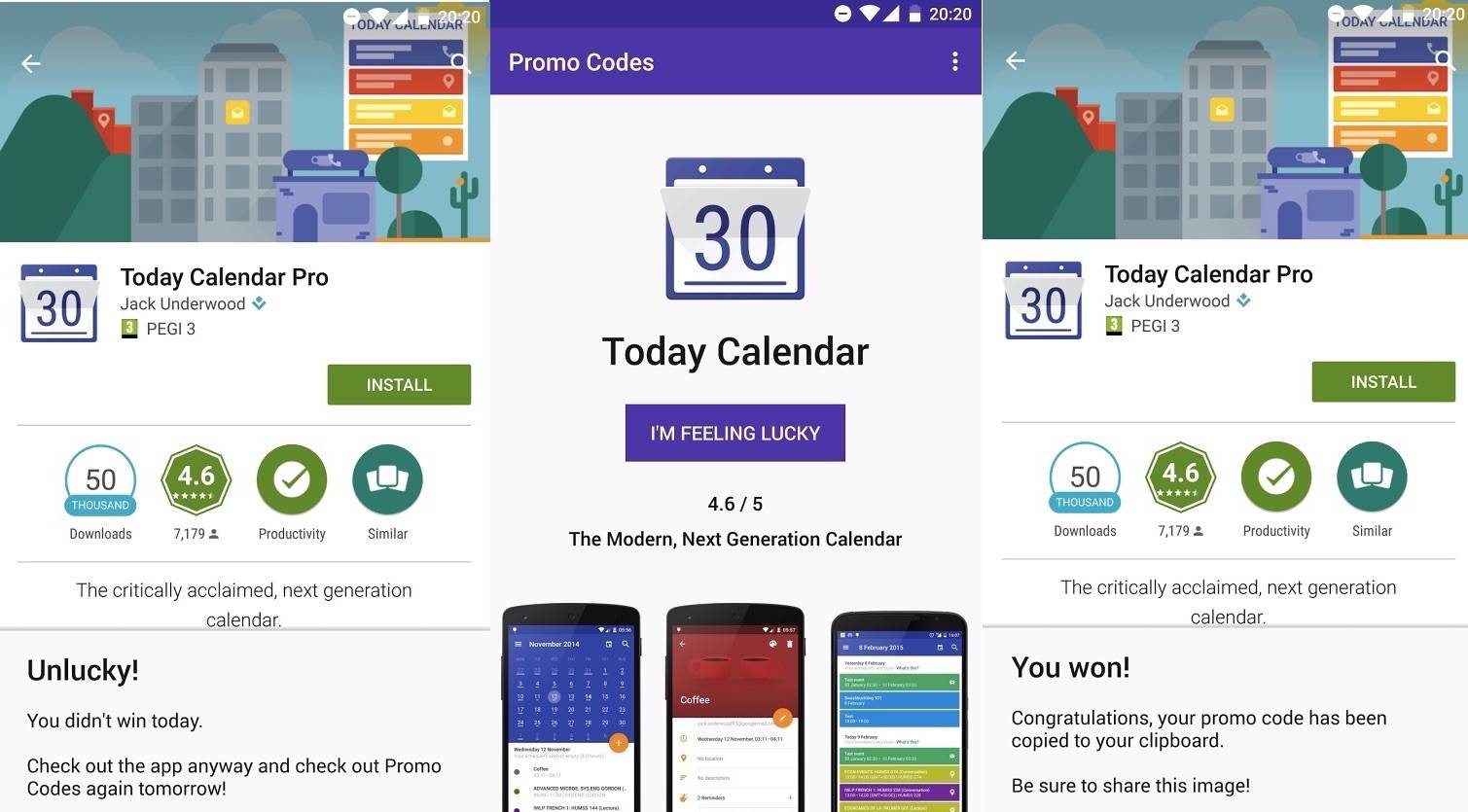 Promo Codes app