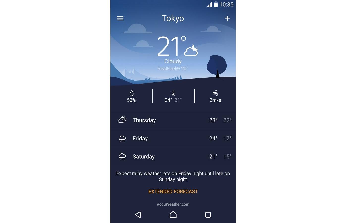 Sony Weather app ready for download, exclusive to Xperia devices