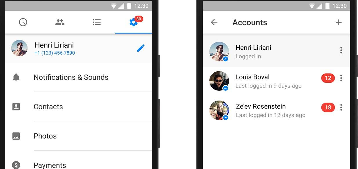 Facebook Messenger now allows multiple account log-in - Android