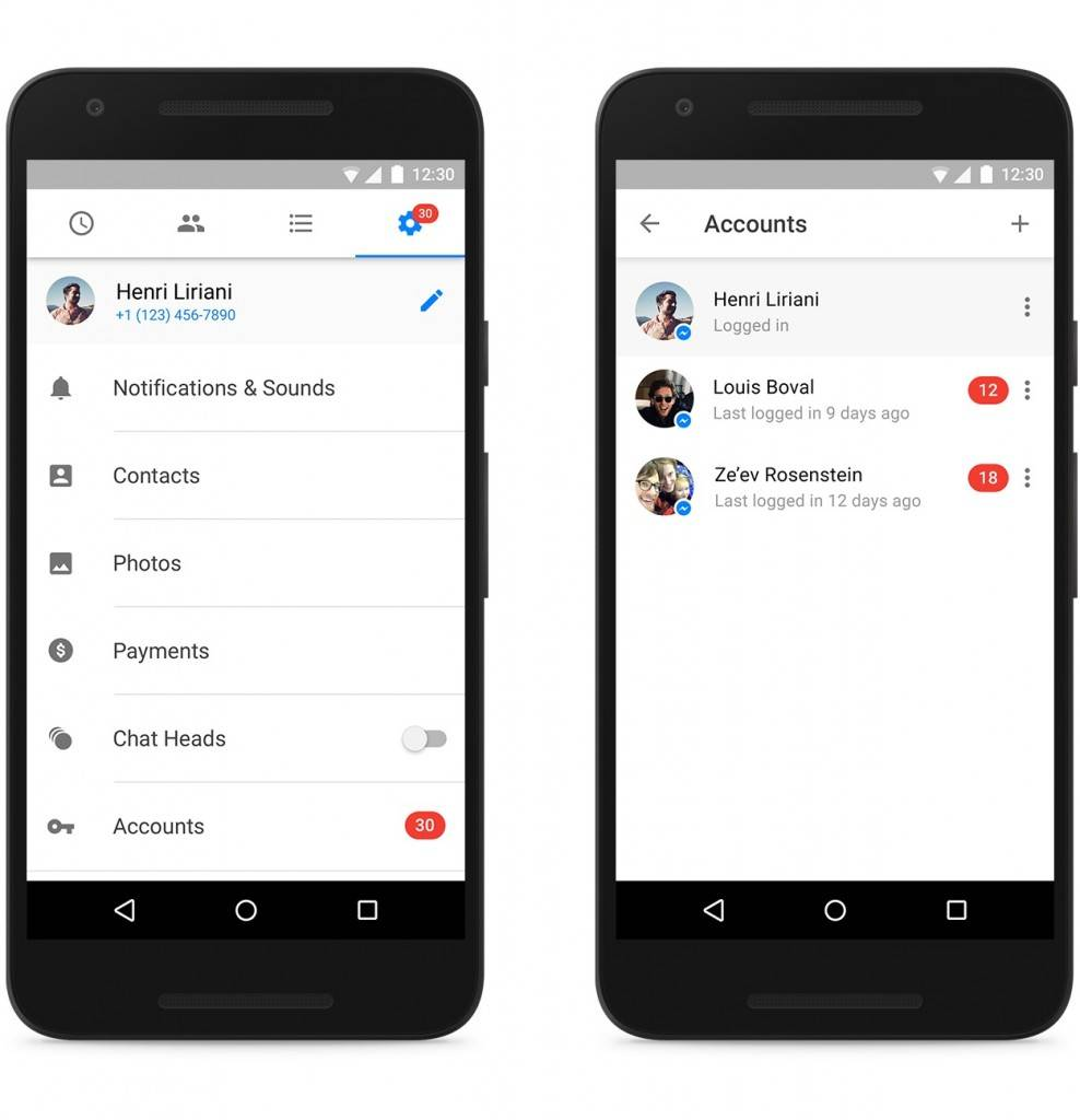 Facebook Messenger now allows multiple account log-in