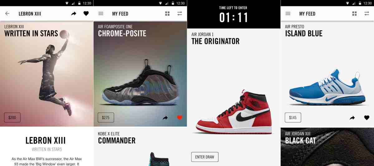 Nike's SNKRS app now available for