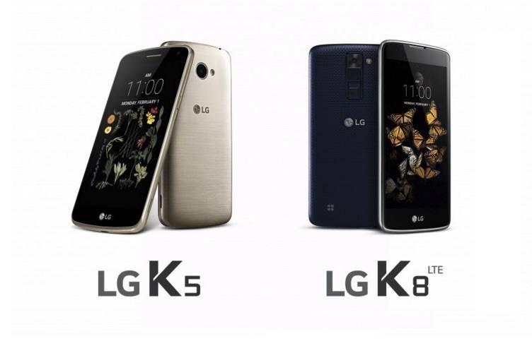 LG K5 LG K8 LTE