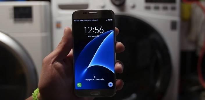 Samsung Galaxy S7 LG Washer Test 1