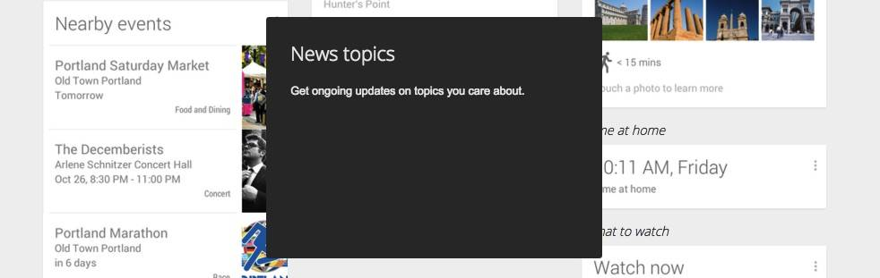 google now news topics