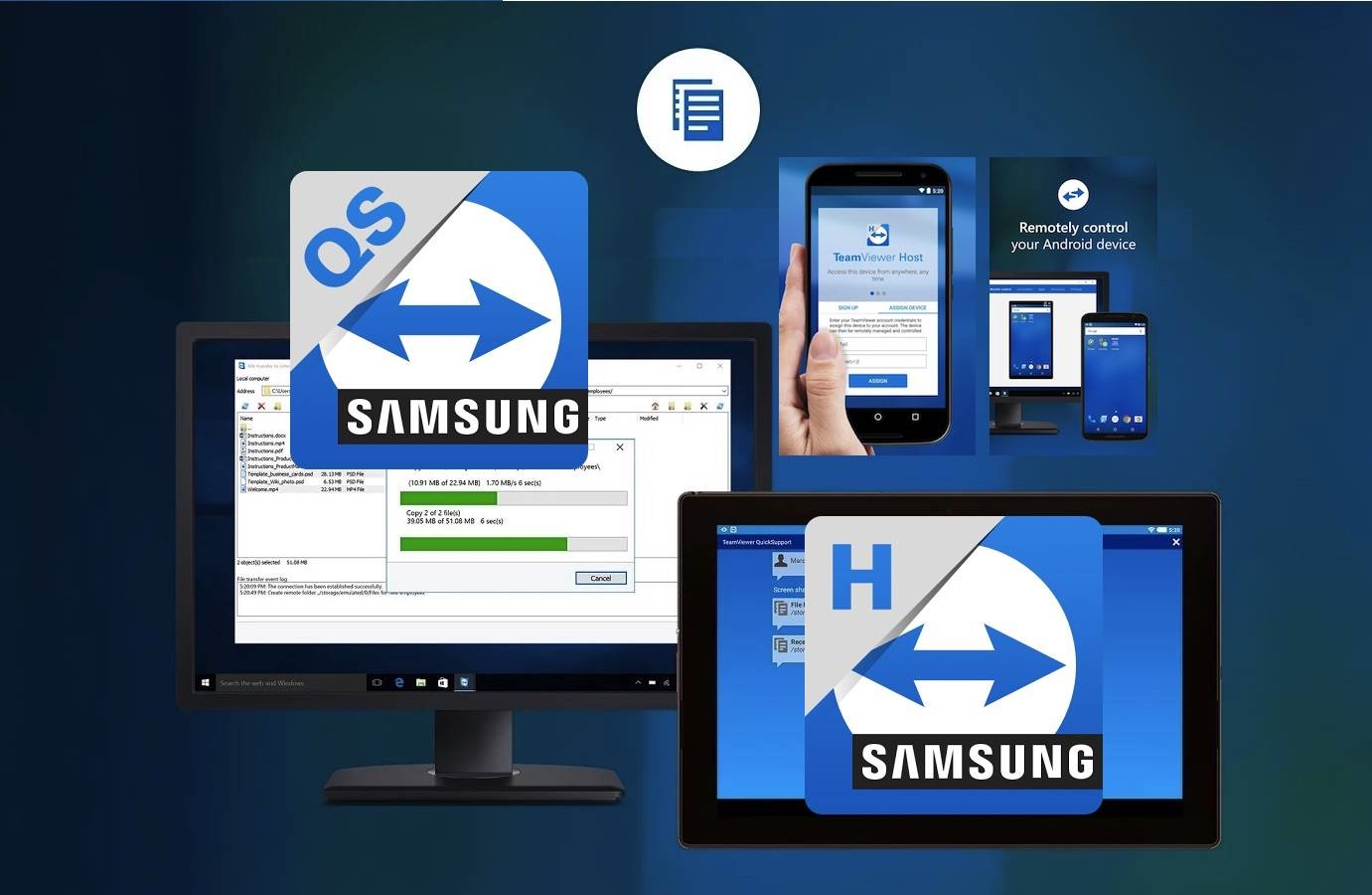 TeamViewer intros new QuickSupport and Host apps for Samsung