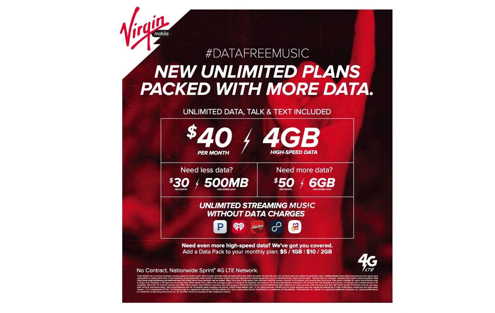 Virgin Mobile USA Unlimited Plans
