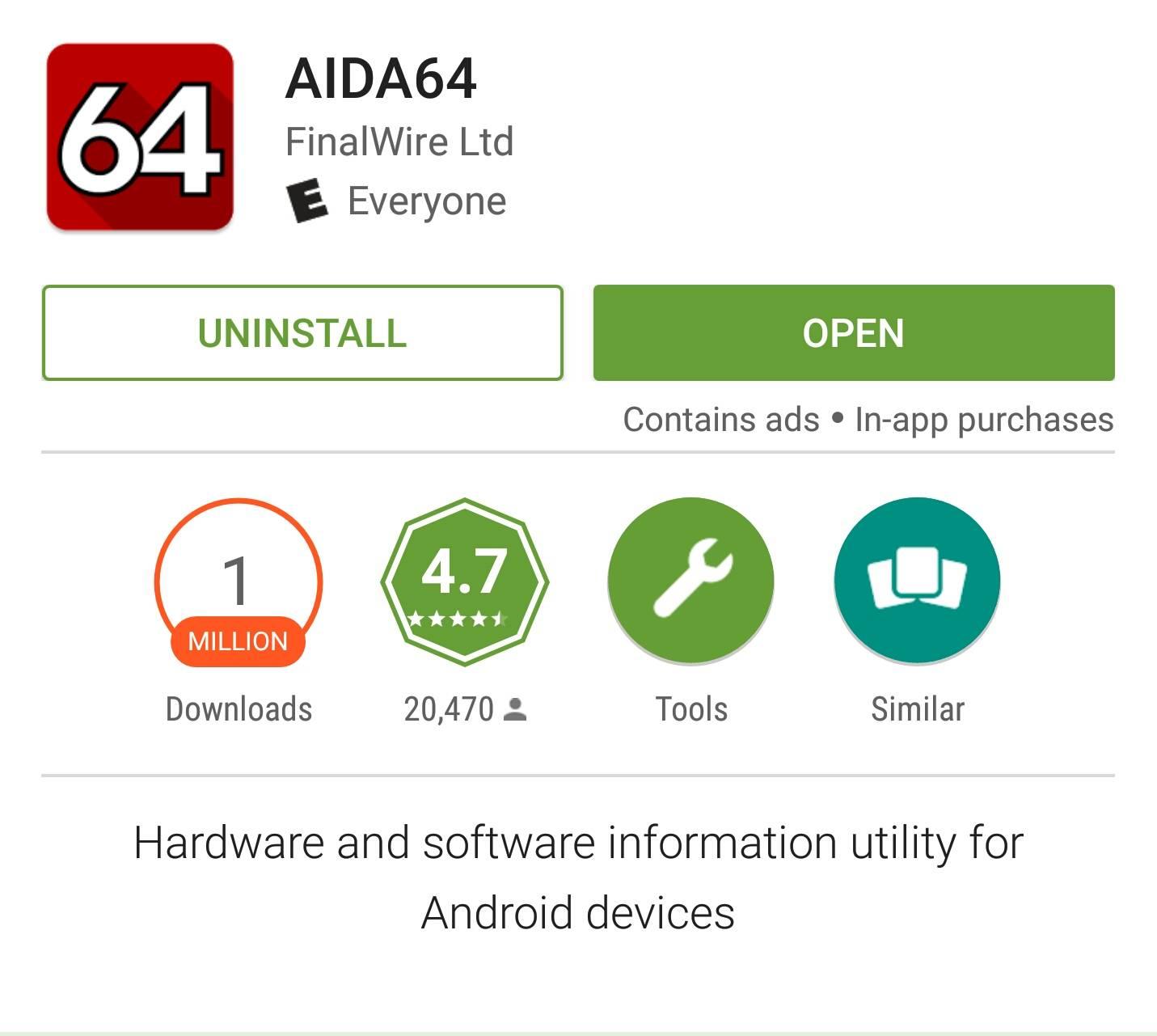 Google Play Store displaying