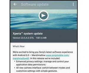Sony Xperia system update cover