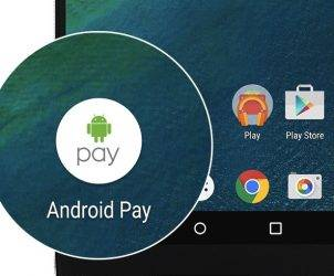 Android Pay Maps nearby locations