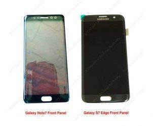 Samsung Galaxy Note 7 leaked panel