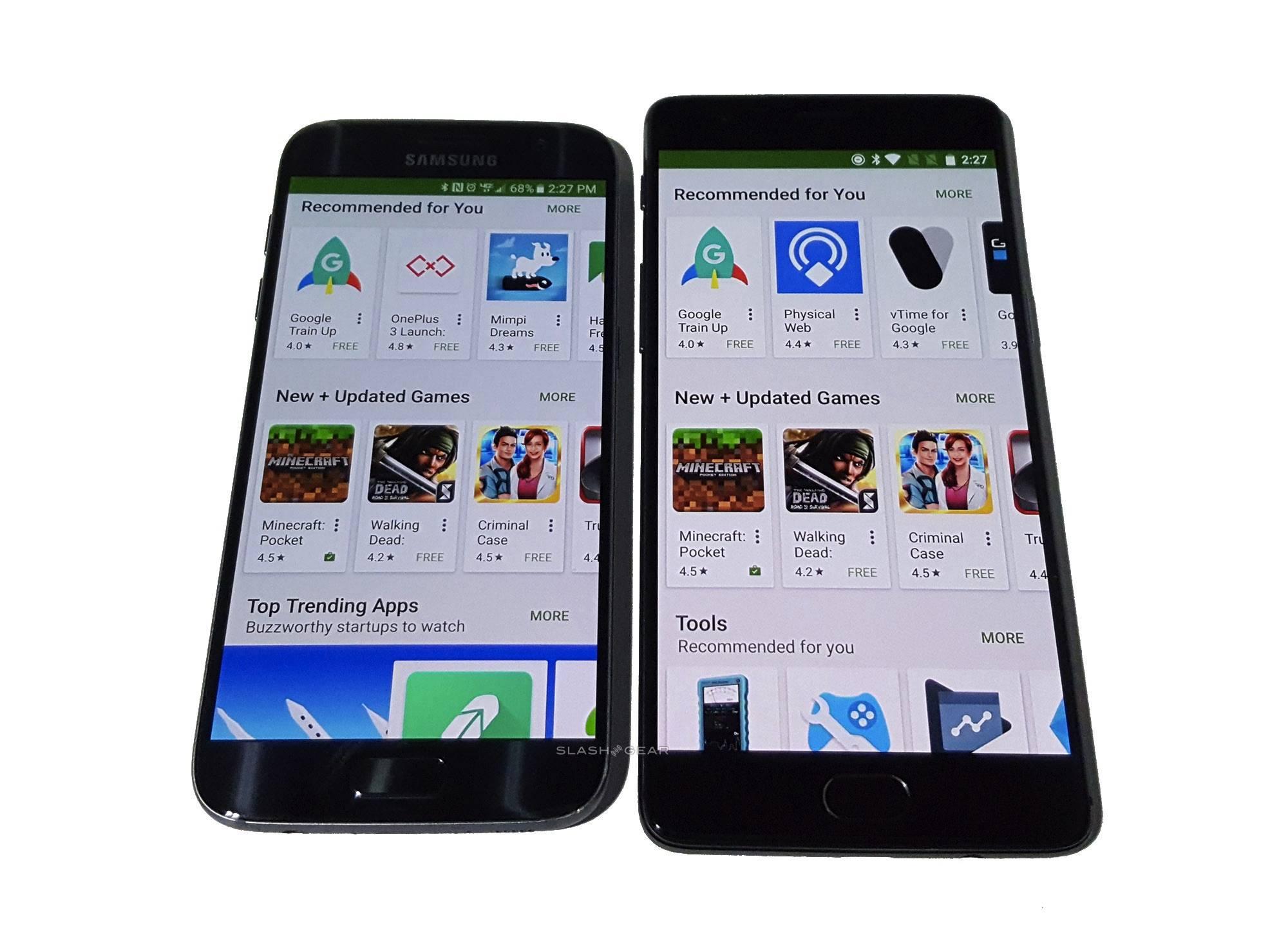 Samsung Galaxy S7 OnePlus 3