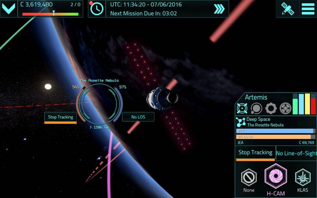 Satellite Command built with Unreal Engine 4, manage
