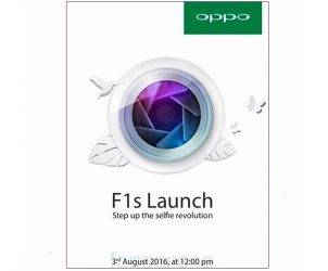 OPPO F1s Launch August 3 2016