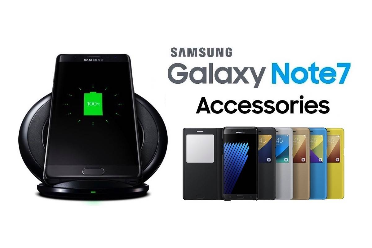 samsung galaxy note 7 accessories shown off to hit the market soon android community. Black Bedroom Furniture Sets. Home Design Ideas