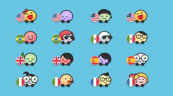 Waze Olympic Teams Country Flags