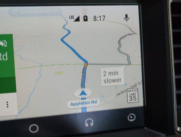 Speed limit info now showing up on Google Maps, Android Auto
