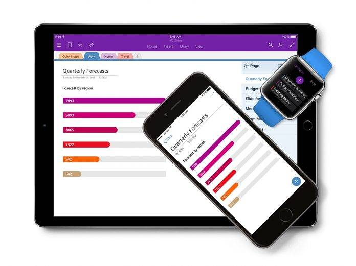 OneNote updates include multi-window support, more embedded
