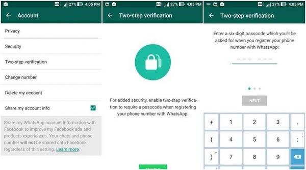 WhatsApp beta update finally brings 2-step verification - Android