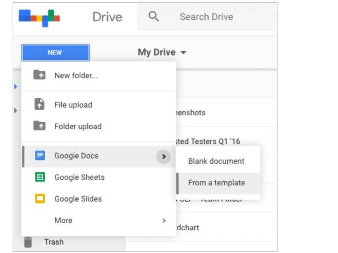 Google Drive templates for docs on mobile got easier - Android Community