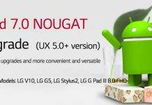 Android 7.0 Nougat LG