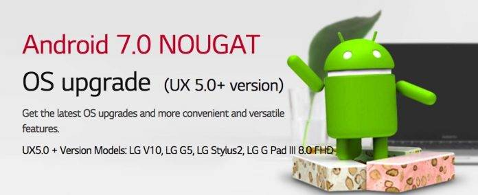 Android 7.0 Nougat LG