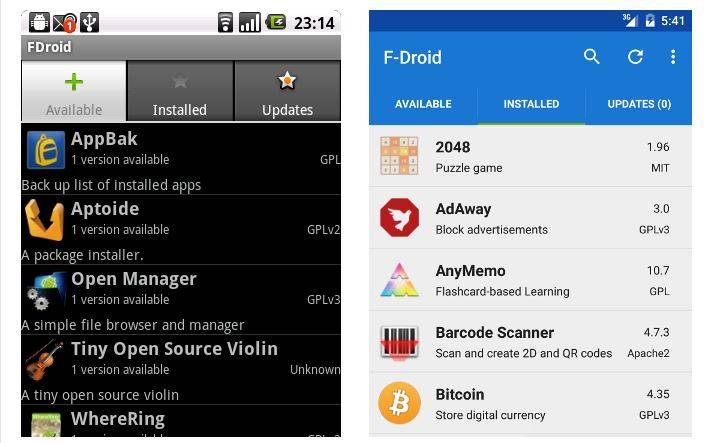 F-Droid finally sees user interface improvements after six years