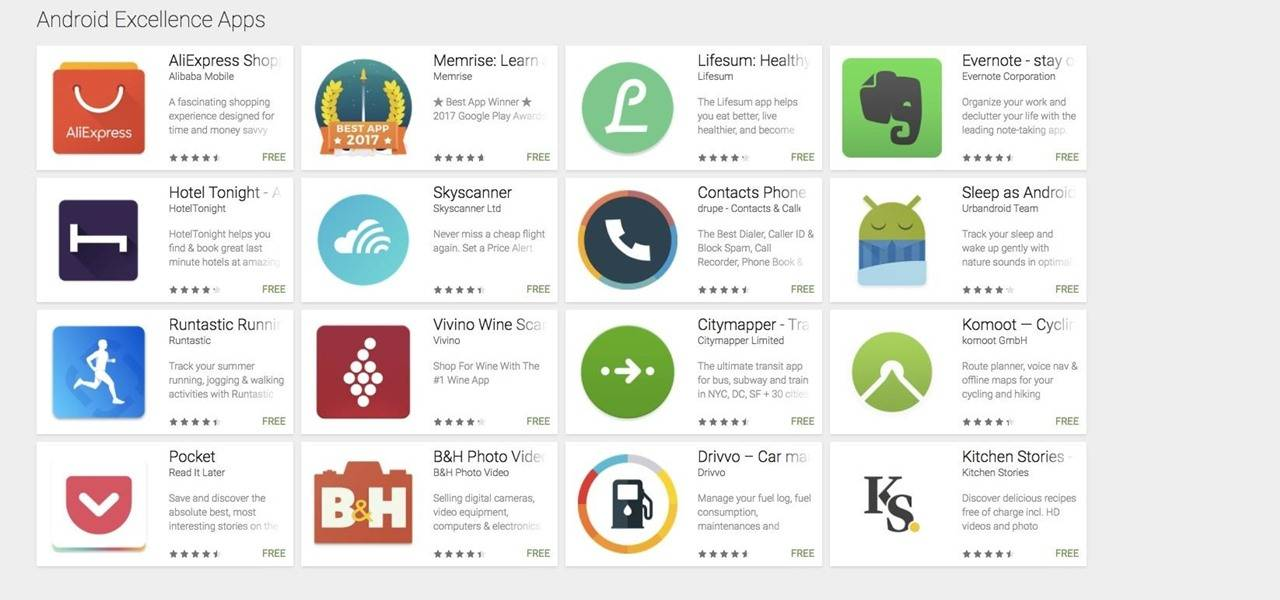 Google Play Store S Android Excellence Section To Highlight Best Apps Android Community