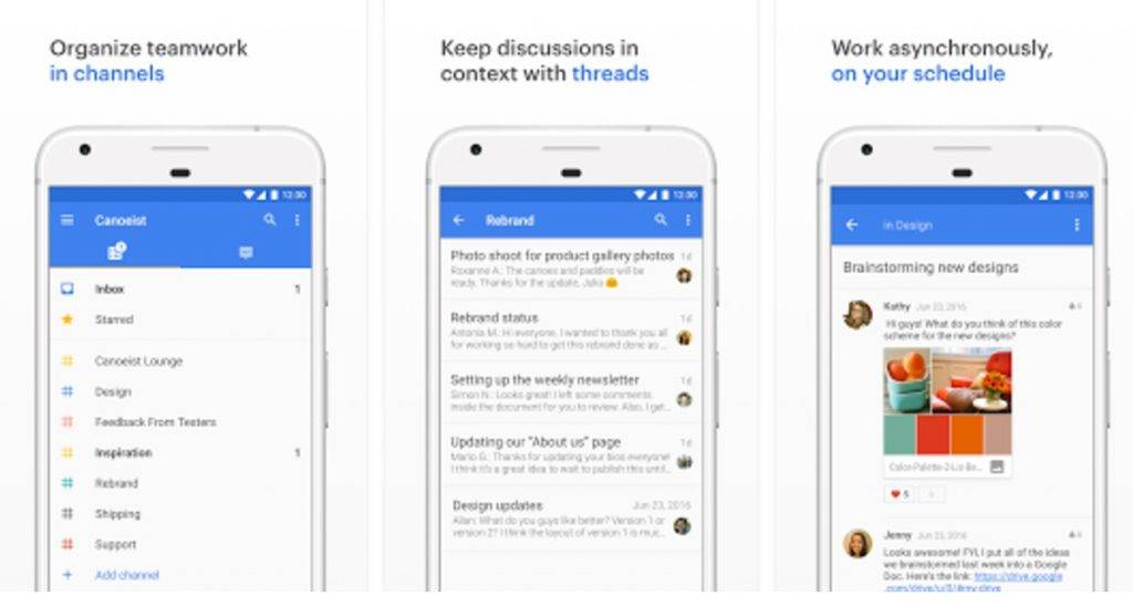 Twist group chat app keeps your communication organized - Android