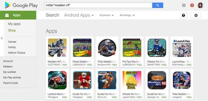 Search operators on Google Play Store is finally back