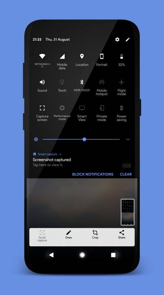 Bring the AOSP status bar to your Samsung Galaxy S8 via