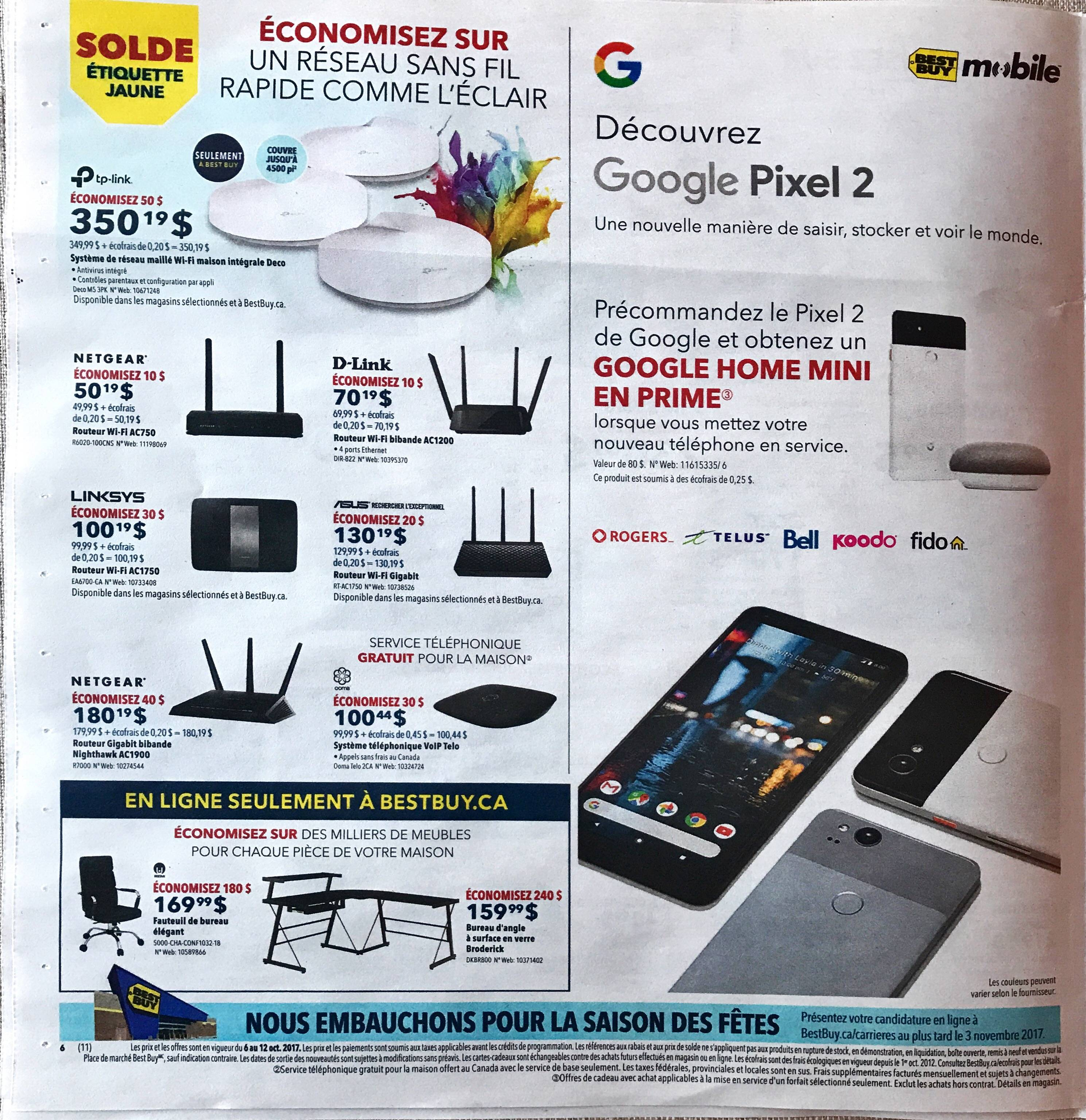 Best Buy Canada promo shows off the Pixel 2, Google Home